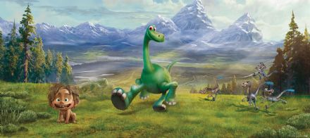 The Good Dinosaur Panoramic mural wallpaper 202x90cm